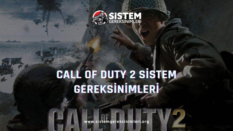 Call of Duty 2 Sistem Gereksinimleri: Call of Duty 2 Minimum ve Önerilen Sistem Gereksinimleri PC, call of duty 2 tavsiye edilen sistem gereksinimleri nelerdir