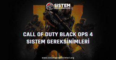 Call of Duty Black Ops 4 Sistem Gereksinimleri: COD Black Ops 4 Minimum ve Önerilen Sistem Gereksinimleri PC, call of duty black ops 4 tavsiye edilen sistem gereksinimleri nelerdir